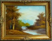 Gemälde Ölgemälde Gebirgslandschaft B059