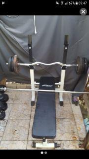 Fitnessbank Hantelbank Gewichte