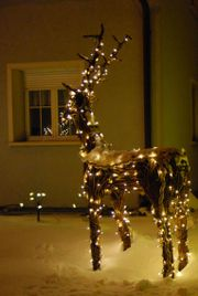 Weihnachtsbeleuchtung Rentier XXL