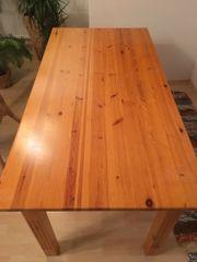 Massiver Echtholztisch 160x80x76