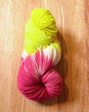 Sockenwolle handgefärbt, 6