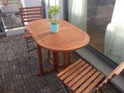 Balkontisch + 2 Stühle (