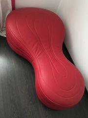 Designer-Ledercouch rot