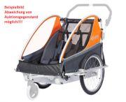 Kindercar City SSL grau-orange Kinderfahrradanhänger