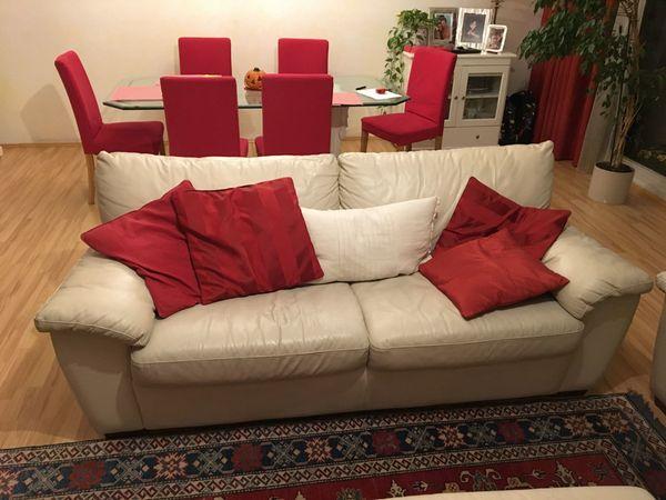 Leder Couchen Sofas Set Fürs