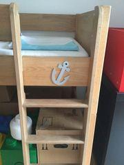 Kinderhochbett aus Buchenholz