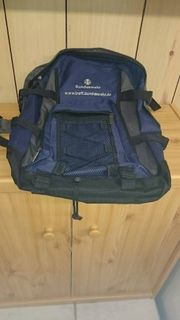 Rucksack Blau grau neuwertig Aufschrift
