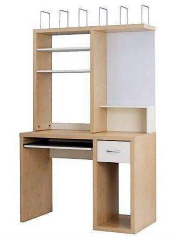 Eckschreibtisch weiß ikea  IKEA Schreibtisch MIKAEL Buche-weiss, sehr gut erhalten!! in ...