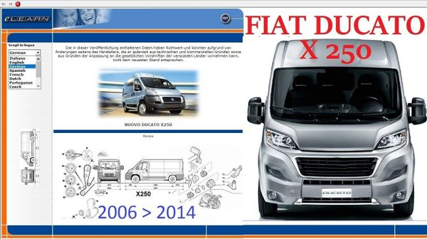 fiat ducato x250 2006 2014 reparaturanleitung cd deutsch. Black Bedroom Furniture Sets. Home Design Ideas