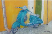 Rockabilly Vespa 30x20