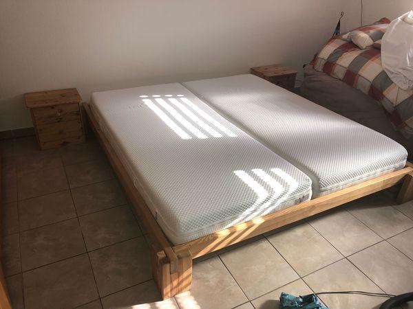 Futon Schlafzimmer Bett 180x200160x200cm Natur Fichtenholz