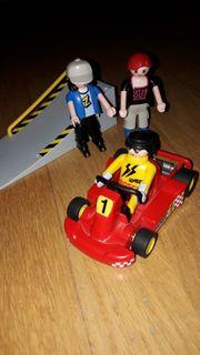 Playmobil Rennfahrer und 2 Rollerskater