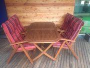 Premium Garten-Essgruppe Holz Set 5