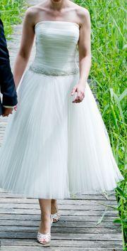 Knöchellanges Ballerina Hochzeitskleid Brautkleid in