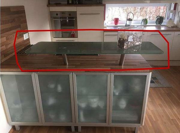 Küche IKEA Faktum Tisch Konsole Glas in Kaltbuch - Küchenmöbel ...