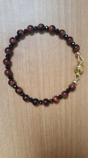 Edelsteinarmband rotes Tigerauge mit Spinell