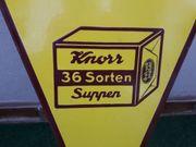 Emaille Schild Werbung Knorr seltene