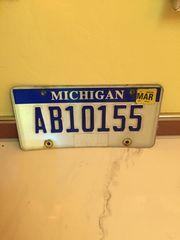 USA Auto Kennzeichen Michigan Original