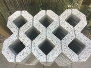 Rasengittersteine gebraucht 9 Stück 40x60x8
