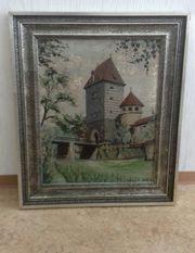 Spachtel-Gemälde bild nürnberg burg jahr