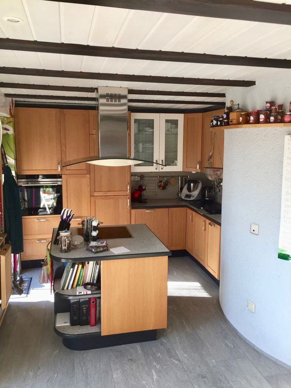 IKEA Küche mit Eichefronten, vielen Auszügen und einem ...