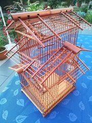 Vogelkäfig - Bambus Holz - Deko - Voliere