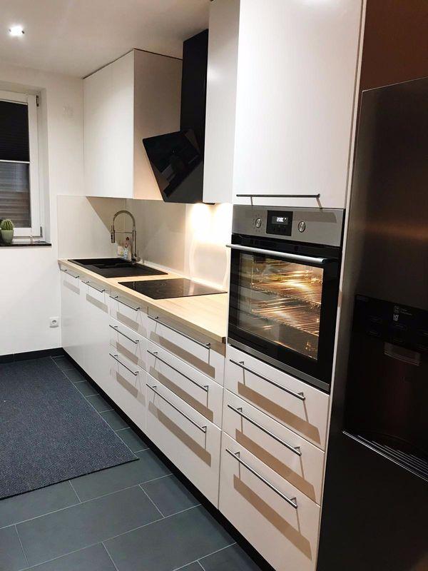 Ikea Einbaukuche Weiss Eiche Inkl E Gerate In Eisenberg