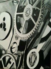 handgemaltes Bild Time II