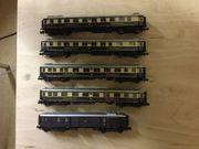 5 D-Zug-Wagons Spur N