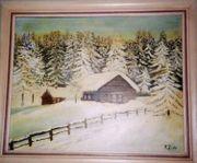 Winterlandschaft, Skihütte, Schneelandschaft,