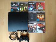 Playstation 3 mit 8 Spielen