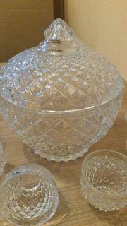 Bowle set kristallglas
