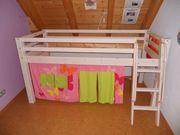 Hochbett Kinder 90x200 cm MASSIV-Holz