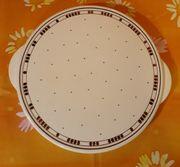 Tortenteller Spritzdekor Tortenplatte mit Griff