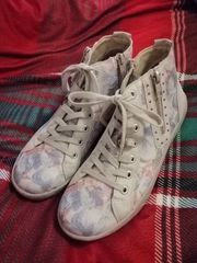 Rieker Schuhe Sneaker Schnürer beige
