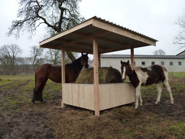 heuraufe mit dach 3x3m pferde pony shetty 1 8x1 80m in thurow pferdeboxen stellpl tze kaufen. Black Bedroom Furniture Sets. Home Design Ideas