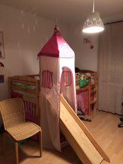 Kinderbett mit Rutsche Matratze Lattenrost