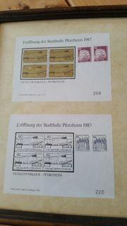 Sonderausgabe Briefmarken Stadthalle Pforzheim 1987
