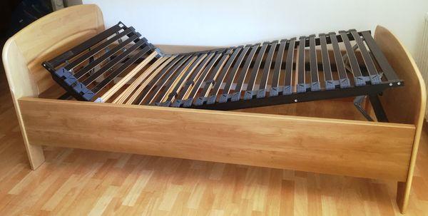 Massives Holzbett 100 X 200 Von Fa Ruga Mit Verstellbarem Rahmen