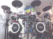 Grosses E-Drumset Doublebassdrum TD 10