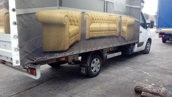 Chesterfield Luxus Garnitur Sessel Sofa Hocker Mobal Moebel In