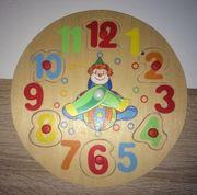 Holzlernuhr für Kinder