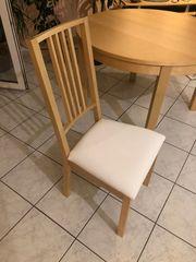 Tisch rund ausziehbar mit 4