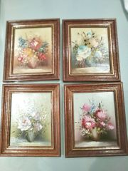 4 Kleine Blumen Gemälde