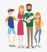 Junge Familie, gesichertes