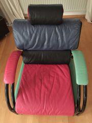 Cooler Ledersessel mit verstellbarer Rückenlehne