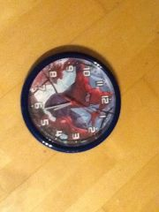 Spidermann Wanduhr Kinderzimmer