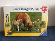 Ravensburger Puzzle 2x24 Ponys Fohlen