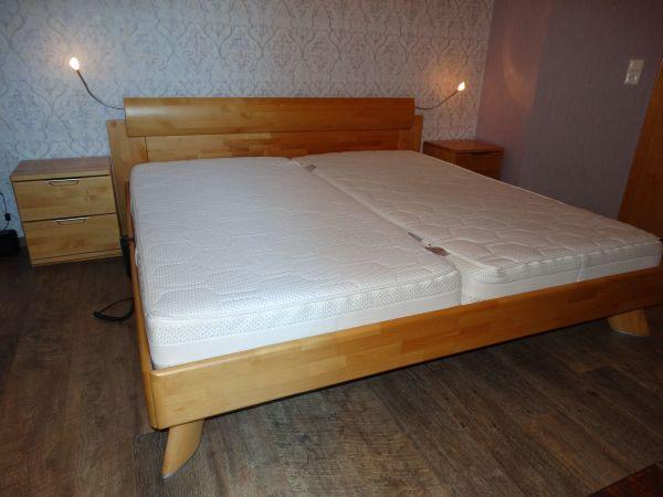Hülster Bett hülsta bett aus vollholz mit elektrisch verstellbarem rost inkl 2