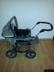Emmaljunga Kinderwagen + Lammfell +